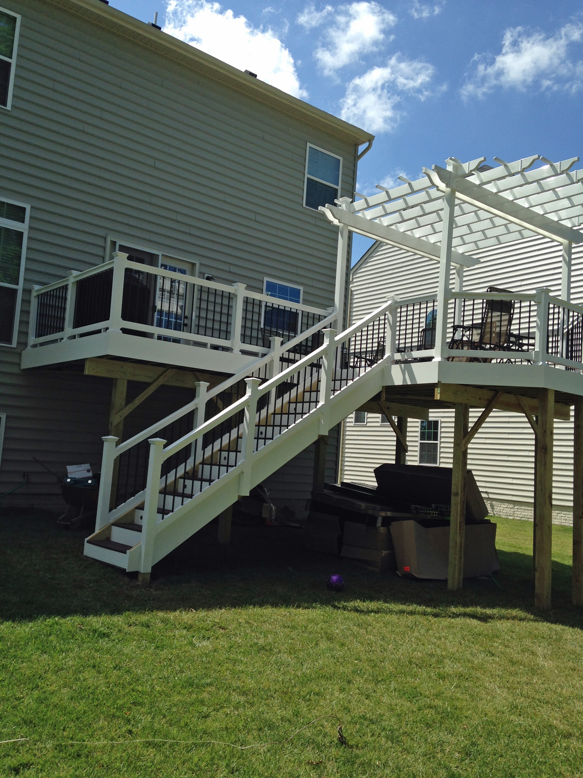 extended deck with open roof